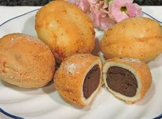 YOU DID WHAT TO THAT EGG? (Chocolate-stuffed, deep-fried eggs)