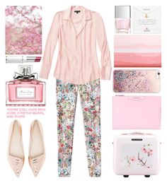 """""""#832"""" by grozdana-v ❤ liked on Polyvore featuring Christian Dior, Etcetera, Givenchy, Ted Baker, Dogeared, Sophia Webster, Spring and Pink"""