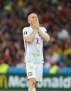 #EURO2016 A dejected Michal Pazdan of Poland during the UEFA Euro 2016 quarter final match between Poland and Portugal at Stade Velodrome on June 30 2016 in...