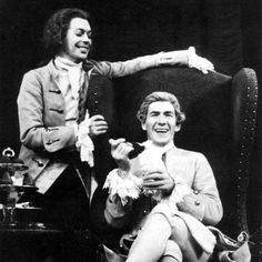 Tim Curry as Mozart and Ian McKellen as Salieri in 'Amadeus' (Jane Seymour was their Constanze). What I wouldn't give to have seen this show...