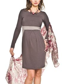 Another great find on #zulily! Beige & Brown Vila Maternity Dress - Women by Torelle #zulilyfinds