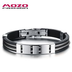 MOZO FASHION Man Punk Jewelry Simple Design Gold/Silver Stainless Steel Wire Rope Silicone Rubber Wristbands Men Bracelet MPH841 http://satyrs.myshopify.com/products/mozo-fashion-man-punk-jewelry-simple-design-gold-silver-stainless-steel-wire-rope-silicone-rubber-wristbands-men-bracelet-mph841-1?utm_campaign=outfy_sm_1486006516_864&utm_medium=socialmedia_post&utm_source=pinterest   #me #instalike #pretty #instadaily #amazing #beautiful #smile #fun #instalove #ootd #glam #love #hot #instagood…