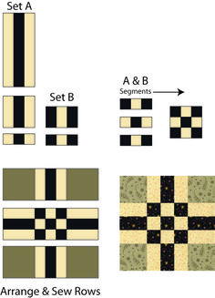 It's a Cinch to Sew a Batch of Easy Center Nine Patch Quilt Blocks: Sew Your Center Nine Patch Quilt Blocks