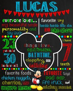 Hey, I found this really awesome Etsy listing at https://www.etsy.com/listing/190793402/mickey-mouse-birthday-chalkboard-sign