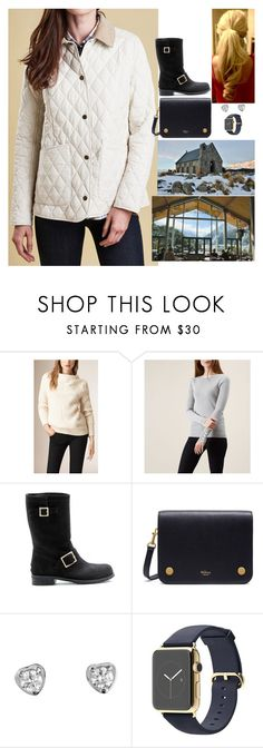 """Visiting the Church of the Good Shepherd before eating at the The Old Mountaineers Cafe"" by fashion-royalty ❤ liked on Polyvore featuring Burberry, Barbour, Jimmy Choo, Mulberry, Cartier and country"