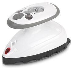 Small Mini Iron - Dual Voltage Compact Design, Great for Travel - Non-Stick Ceramic Soleplate - Dry or Steam Ironing - Extra-Long Power Cord - Heats Rapidly in 15 Seconds
