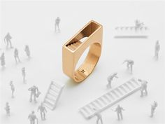 Artur Dabrowski 3D-prints beautiful jewelry inspired by #architecture, storytelling and rabbits — #3DPrinting