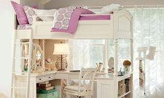 Chelsea Vanity Loft Bed In 2019 Girls Bedroom Furniture Bedroom Loft, Dream Bedroom, Kids Bedroom, Girl Bedrooms, Attic Bedrooms, Small Bedrooms, Girls Bedroom Furniture, Bedroom Decor, Bedroom Ideas