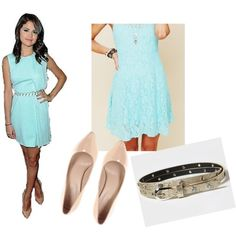Selena Gomez Style Look #Selena #Gomez #Blue #Versace #Dress #Elegant #ASOS #Nude #Heels #Claires #Metallic #Belt #FreePeople #Look #Outfit #Fashion #Dressy #Date