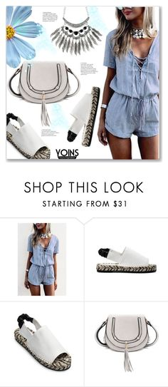 """Casual Look by Yoins"" by jecakns ❤ liked on Polyvore featuring casual, white, sandals, lightblue and jumpsuits"