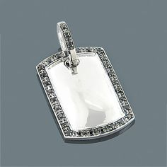 Diamond dog bone pendant accessories for doggie me pinterest black diamond dog tag pendant 066ct sterling silver aloadofball Gallery