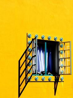 Mexico bright yellow wide open window
