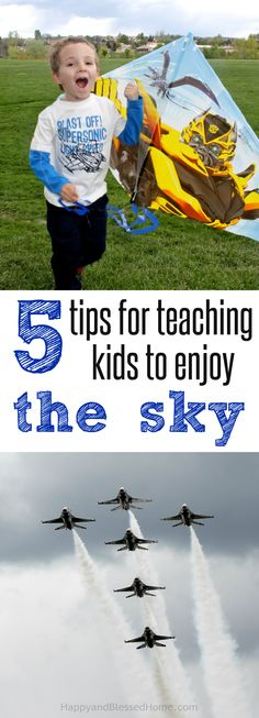 Moms encouraging moms all summer long! 5 Tips for teaching Kids to Enjoy the Sky - Parenting Tips and summer fun activities to inspire families by HappyandBlessedHome