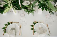 Like the green under the plate as an option, don't think the vases or candle holder are right.
