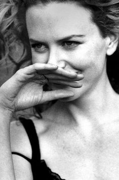 Nicole Kidman. This has always been one of my favorite photos of her. I think it's the fact that her hand is in the pic...not sure why, but I like it.