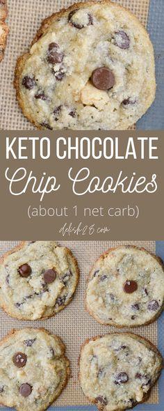 Keto Chocolate Chip Cookie Recipe, Banana Chocolate Chip Cookies, Keto Chocolate Chips, Chicolate Chip Cookies, Keto Dessert Easy, Keto Cookies, Low Carb Desserts, Keto Foods, Keto Snacks