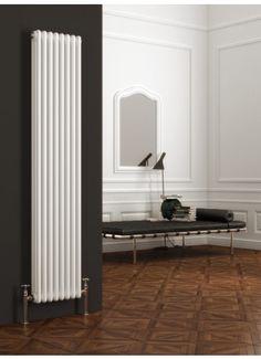 Hall radiator- Reina Colona Vertical 2 Column Radiator 1800mm High x 200mm Wide - White