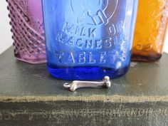 Small Sterling Silver bone charm