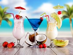 Tropical drinks for all of us! www.caribbeandreamstravel.com 1-855-NOW-GETAWAY
