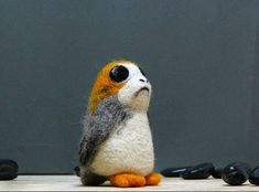 Hey, I found this really awesome Etsy listing at https://www.etsy.com/listing/571822346/porg-star-wars-needle-felted-cute-porg