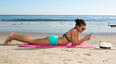 Yes, it's a toning move you can do lying down. This easy but effective exercise from Kate Albarelli, a former ballerina who created the popular Figure 4 workout at New York City's Pure Yoga, gives you that lifted, dancer's booty by working your hamstrings and glutes. Step 1: Start by lying down on your stomach (at the beach or on your floor at home—doesn't matter).