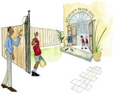 First day of school, created by Pearson Education Dip Pen, First Day Of School, Graphic Design, Watercolor, Ink, Traditional, Education, Create, Children