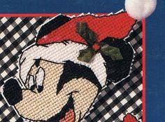 Mickey Mouse Santa Hat Plastic Canvas Pattern