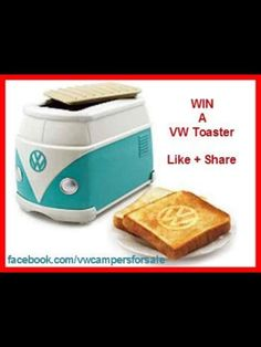 Can you believe it toasts the VW emblem on to the bread, magic!