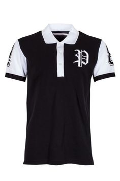Philipp Plein | 'Justin' Polo Shirt Black | Philipp plein polo shirt with an embroidered cool print at the back that makes it original and different from any other polo. Wear this piece with chinos and complete the look with PHILIPP PLEIN Sneakers.