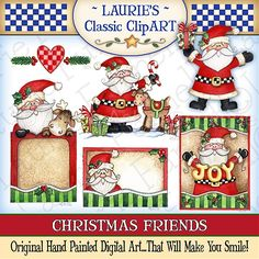Christmas Friends Digital Art Collection