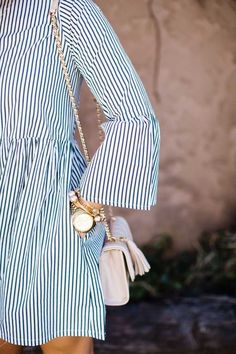 Striped summer dress.