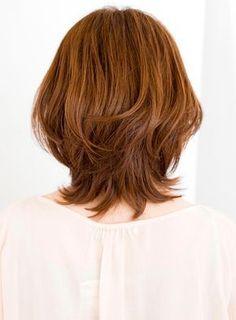 ひし形シルエットでかなり需要の多いスタイルです。頬骨を隠すようにサイドにつながる前髪が小顔効果を発揮します。360度どこから見てもキレイなスタイルです。