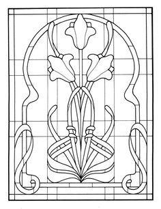 free stained glass pattern art deco - Google-haku