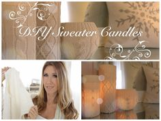 Cute and Cozy Sweater Candles for Winter Decor