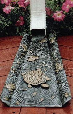 Love This Turtle Design All Season Gutters Splash Blocks For Downspouts