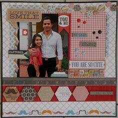 Love that Smile - Scrapbook.com Teresa Collins - He Said She Said Collection