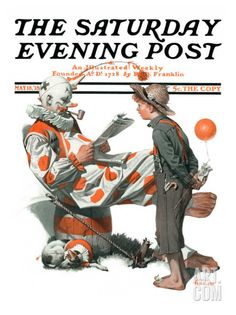 """No Swimming"" Saturday Evening Post Cover, June 4,1921 Giclee Print by Norman Rockwell at Art.com"