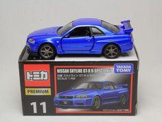 TOMICA PREMIUM 11 NISSAN SKYLINE GT-R V-SPEC 2 NUR 1/62 R34 TAKARA TOMY #Tomica #Nissan