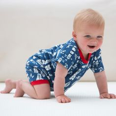 Lighthouse romper Baby Boys (0-3 years) | Kite Clothing
