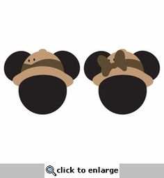 Mickey Heads: Safari Mouse Head Laser Die Cuts - Layered die cuts and overlays do come unassembled. Mickey Mouse Classroom, Disney Classroom, Safari Birthday Cakes, Safari Party, Diy Disney Ears, Disney Diy, Minnie Safari, Mickey Mouse Template, Mickey Craft