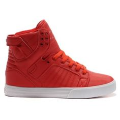 14693a599aa6 Supra Red Suede Skytop Grey High Tops for Men Supra Shoes