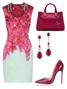 """Untitled #20415"" by edasn12 ❤ liked on Polyvore featuring Matthew Williamson, Diane Von Furstenberg and Christian Louboutin"