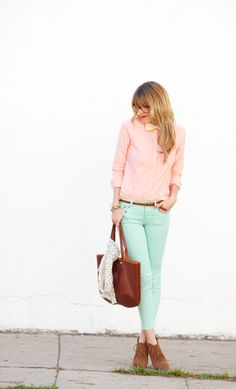 Clothes Casual Outift for • teens • movies • girls • women •. summer • fall • spring • winter • outfit ideas • dates • parties Polyvore :) Catalina Christiano Pastel baby pink mint gold leather