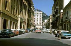 Kolonaki and Lykabettus view, Athens. Photo by Seymour Katcoff, 1958 Greece Pictures, Old Pictures, Athens, Street View, City, Beautiful, Greek, Memories, Vintage