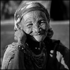 Namibia the beauty of wisdom and many years lived on her face
