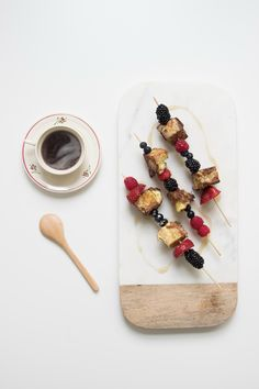 GREAT IDEA for Father's Day! // Celebrating Dads | French Toast Skewers!
