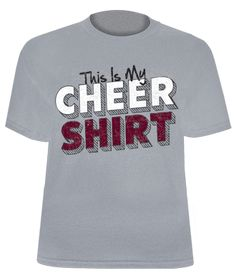 This Is My Cheer Shirt Printed Gray Jersey Tee for Cheerleaders