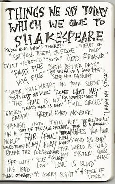 Things We Say Today Which We Owe To Shakespeare!