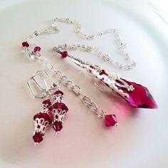 New Swarovski Ruby Red Crystal Vintaj by HisJewelsCreations, $32.00