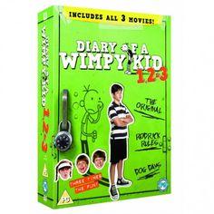 Los divertidísimos libros del Diario de Greg, cobra vida en esta gran comedia familiar. Colección de las 3 primeras películas: Diary of a Wimpy Kid, Diary of a Wimpy Kid 2: Rodrick Rules, y Diary of a Wimpy Kid 3: Dog Days